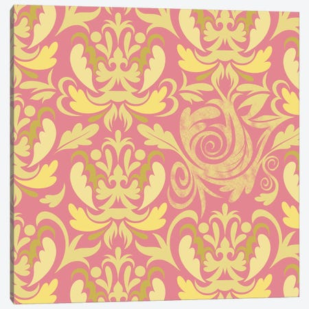 Modular Movement in Pink & Yellow Canvas Print #HPP27} by 5by5collective Canvas Art