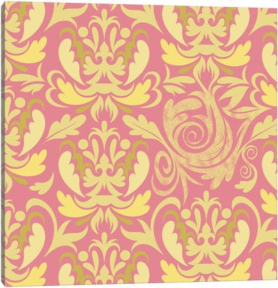 Modular Movement in Pink & Yellow Canvas Art Print