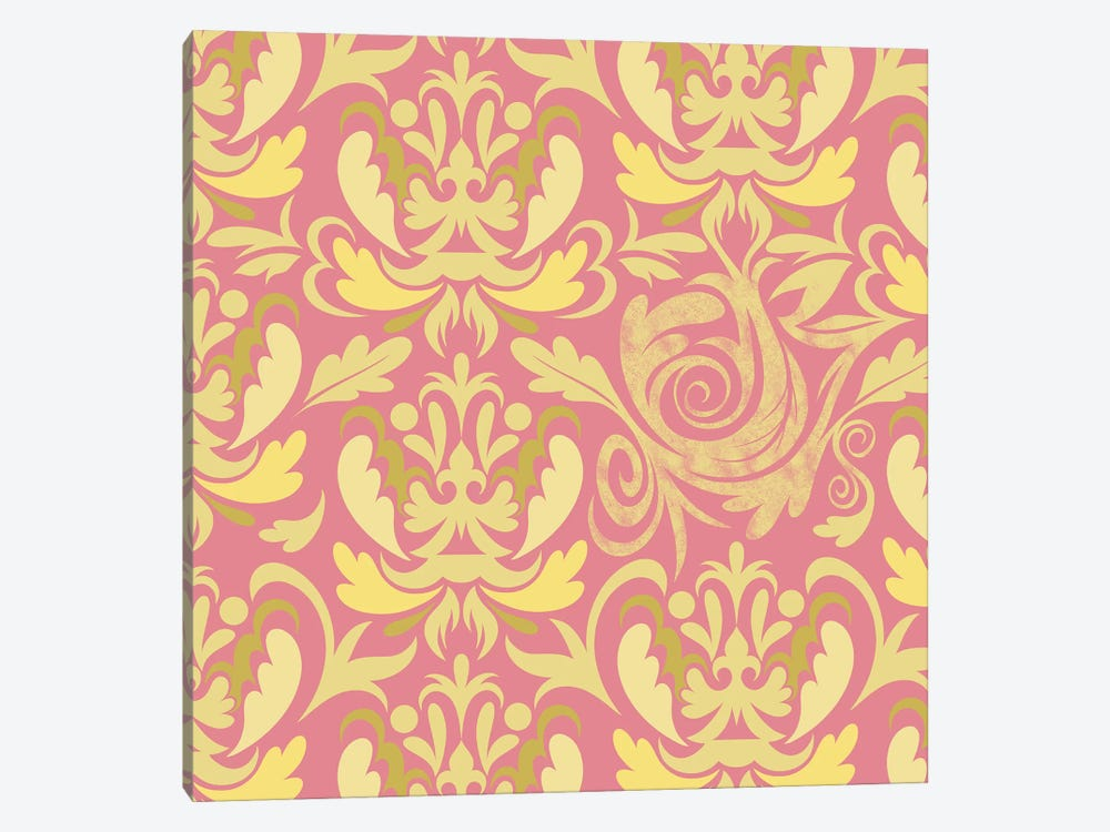 Modular Movement in Pink & Yellow by 5by5collective 1-piece Canvas Artwork