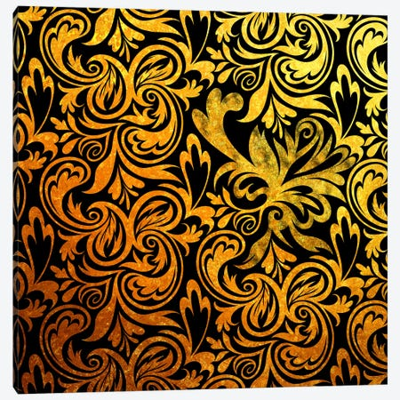 Secret View in Black & Gold Canvas Print #HPP29} by 5by5collective Canvas Print