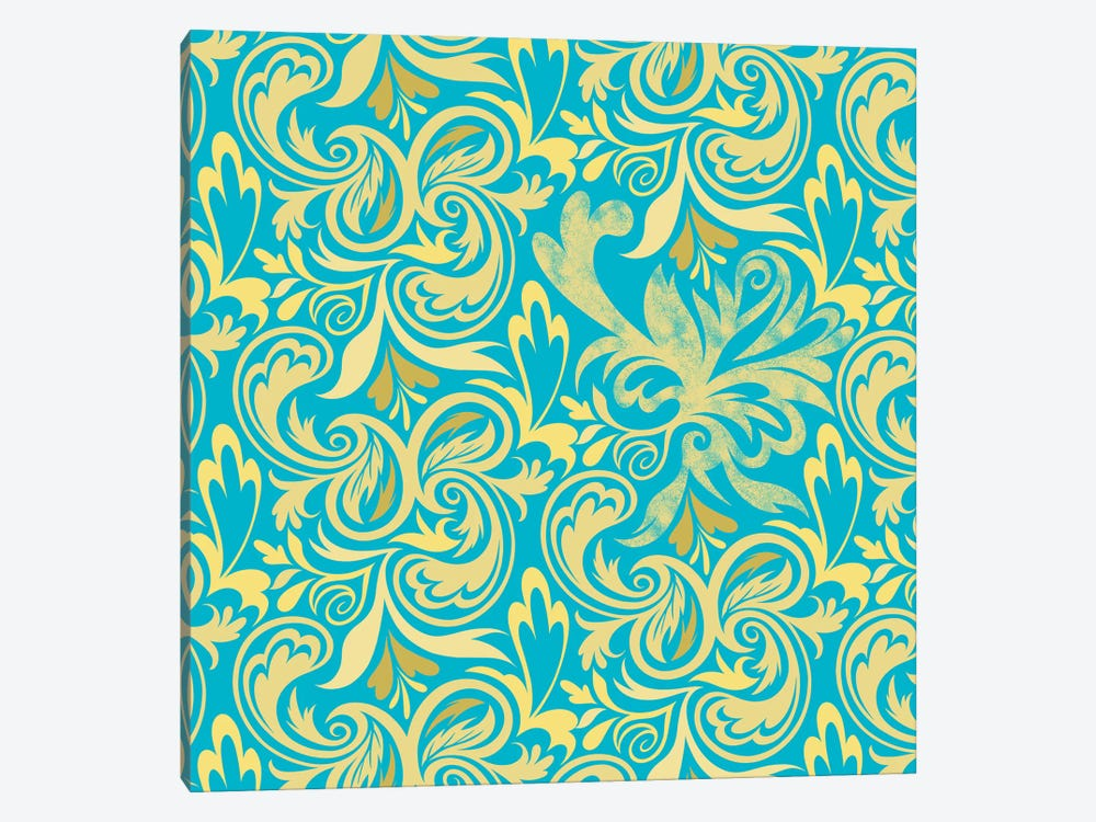 Secret View in Blue & Yellow by 5by5collective 1-piece Canvas Art