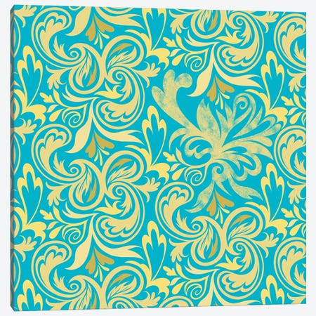 Secret View in Blue & Yellow Canvas Print #HPP32} by 5by5collective Canvas Art