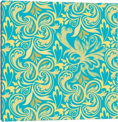 Secret View in Blue & Yellow Canvas Art Print