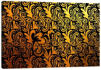Element of Peace in Black & Gold Extended Canvas Art Print