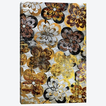 Flourished Floral on Grunge Wall Extended Canvas Print #HPP38} by 5by5collective Canvas Wall Art