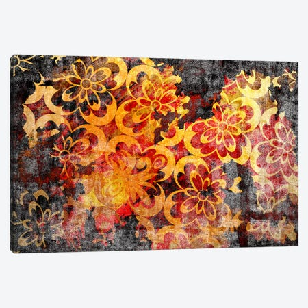 Flourished Floral Torn Extended Canvas Print #HPP39} by 5by5collective Canvas Wall Art