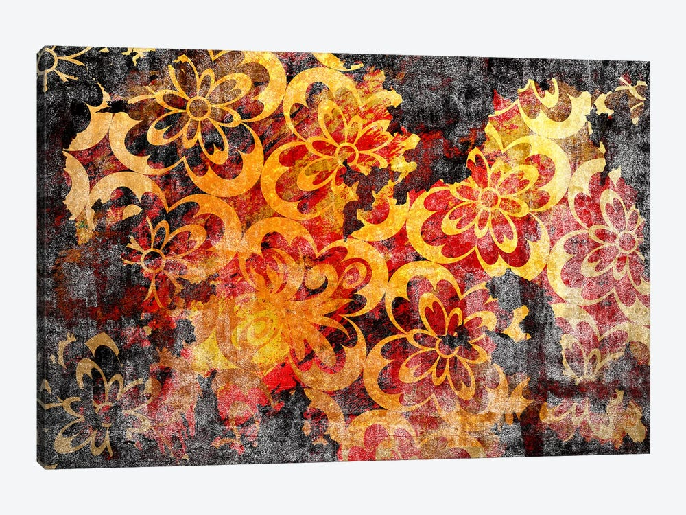 Flourished Floral Torn Extended by 5by5collective 1-piece Canvas Art Print