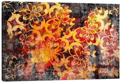 Flourished Floral Torn Extended Canvas Art Print
