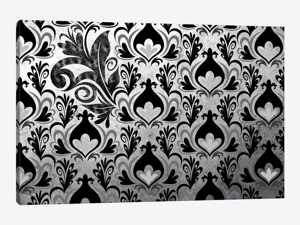 Incoherent Fragment in Black & White Extended by 5by5collective 1-piece Canvas Art Print
