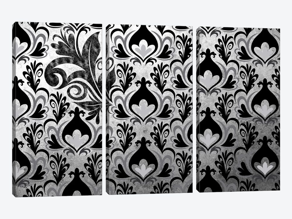 Incoherent Fragment in Black & White Extended by 5by5collective 3-piece Canvas Art Print