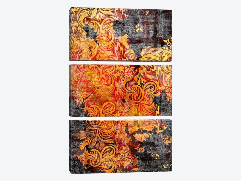 Secret View Torn Extended 3-piece Canvas Print
