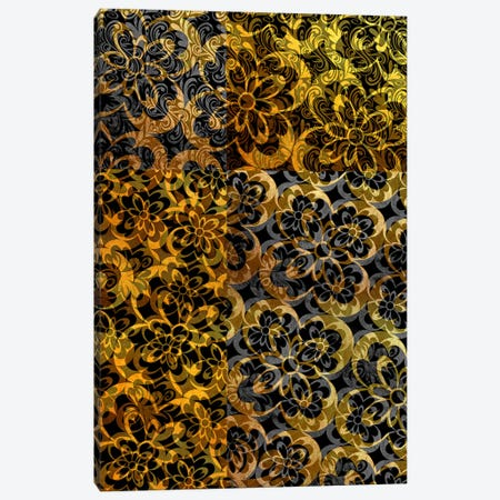 Evolving Movement in Gold Extended Canvas Print #HPP47} by 5by5collective Canvas Art