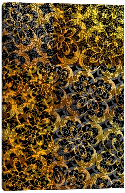 Evolving Movement in Gold Extended Canvas Art Print