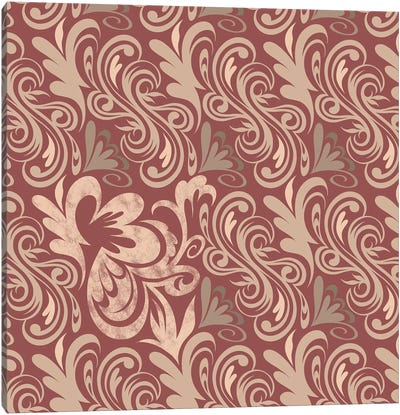Element of Peace in Red & Beige Canvas Print #HPP5