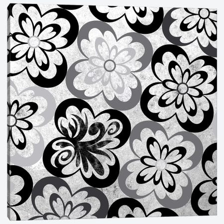 Flourished Floral in Black & White Canvas Print #HPP9} by 5by5collective Canvas Print