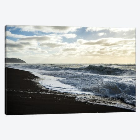 Storm Waves Canvas Print #HRB14} by Heather Roberson Canvas Artwork