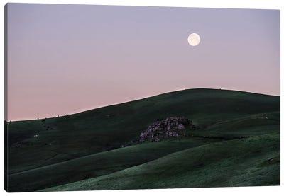Full Moon At Dawn Canvas Art Print