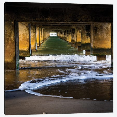 Under The Pier Canvas Print #HRB21} by Heather Roberson Canvas Wall Art