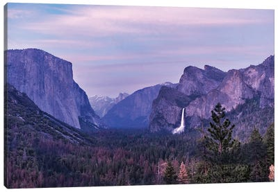 Sunset At Tunnel View Canvas Art Print