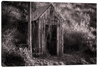 Antique Shed In Black And White Canvas Art Print
