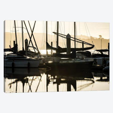 Sleeping Sailboats Canvas Print #HRB43} by Heather Roberson Canvas Artwork