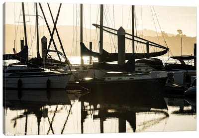 Sleeping Sailboats Canvas Art Print