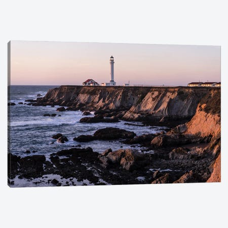 Point Arena Lighthouse Canvas Print #HRB54} by Heather Roberson Canvas Art
