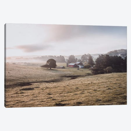 Sunrise On The Farm Canvas Print #HRB56} by Heather Roberson Canvas Wall Art