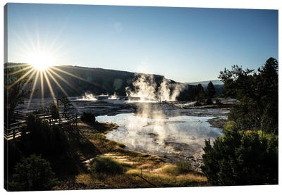 Mammoth Hot Springs Canvas Art Print