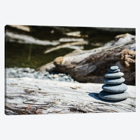 Stacked Stones Canvas Print #HRB6} by Heather Roberson Canvas Print