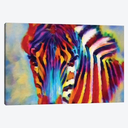 Zebra Pierre Canvas Print #HRH17} by HRH EMERALD Canvas Artwork