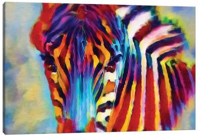 Zebra Pierre Canvas Art Print