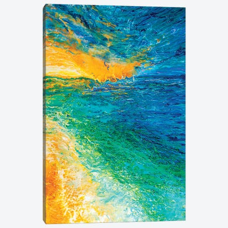 Green Shores Canvas Print #HRH18} by HRH EMERALD Canvas Art Print