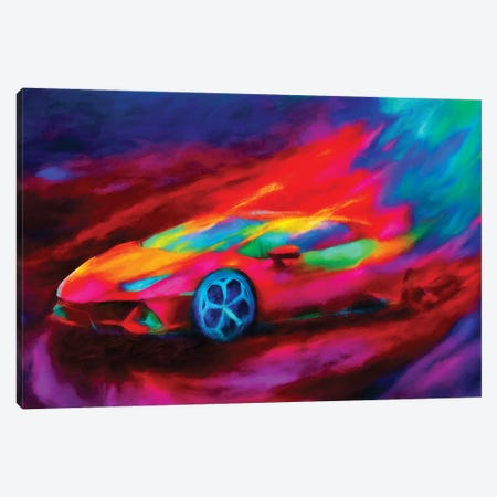 Lamborghini Hurricane Canvas Print #HRH30} by HRH EMERALD Canvas Art Print