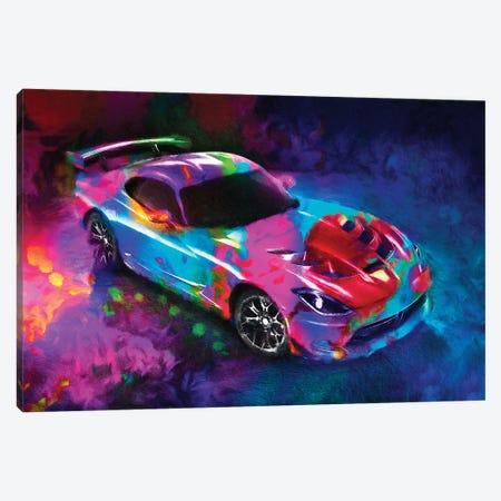 Dodge Viper Canvas Print #HRH31} by HRH EMERALD Canvas Art Print