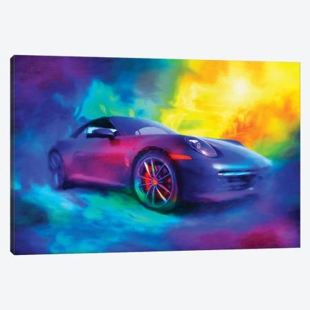 Porsche 911 Canvas Print #HRH32} by HRH EMERALD Art Print