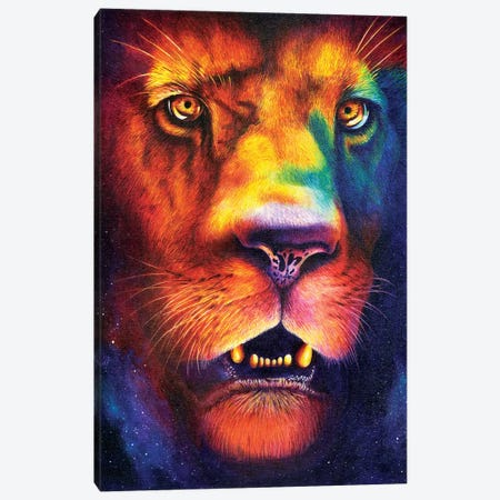 Lion Canvas Print #HRH3} by HRH EMERALD Canvas Art