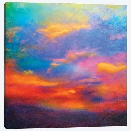 Purple Sky Canvas Print #HRH9} by HRH EMERALD Canvas Wall Art