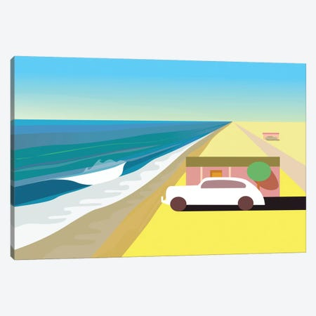 Desert Beach Canvas Print #HRK100} by Charles Harker Canvas Art