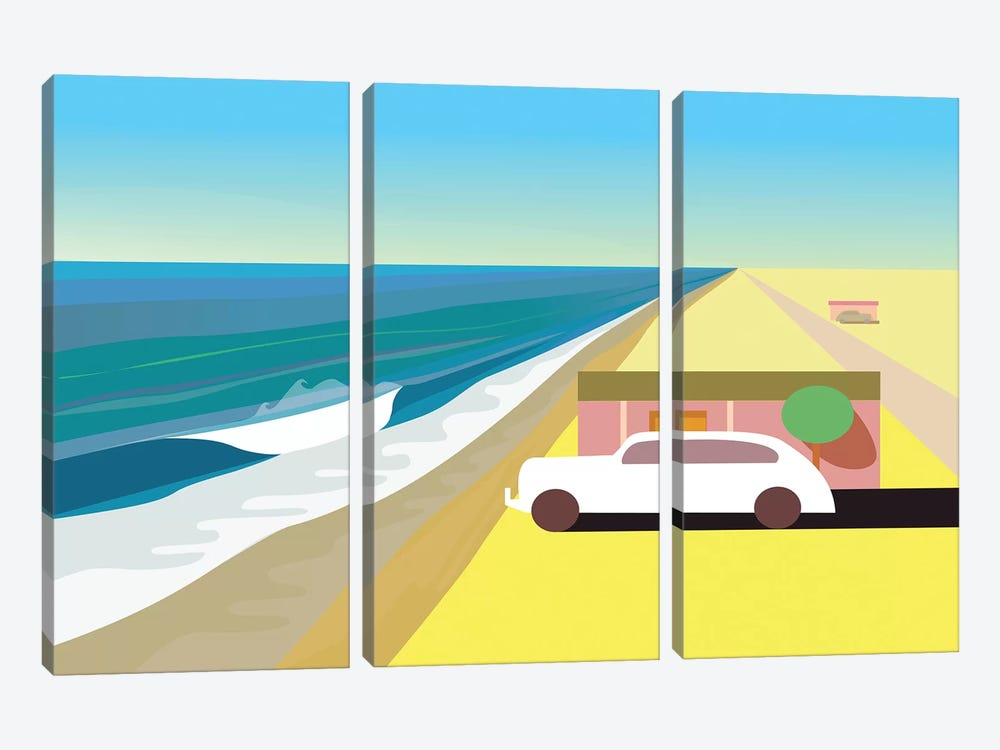 Desert Beach by Charles Harker 3-piece Canvas Artwork
