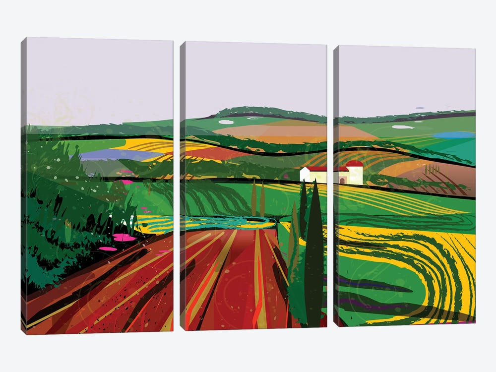 Farm No. 8 by Charles Harker 3-piece Art Print