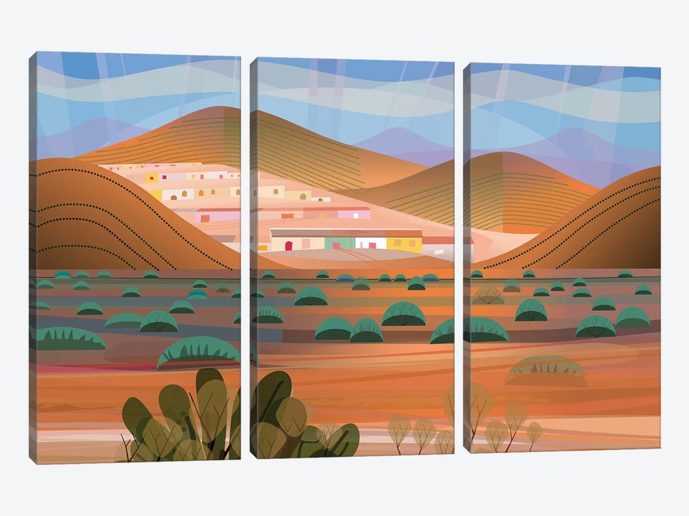 La Choya by Charles Harker 3-piece Canvas Wall Art