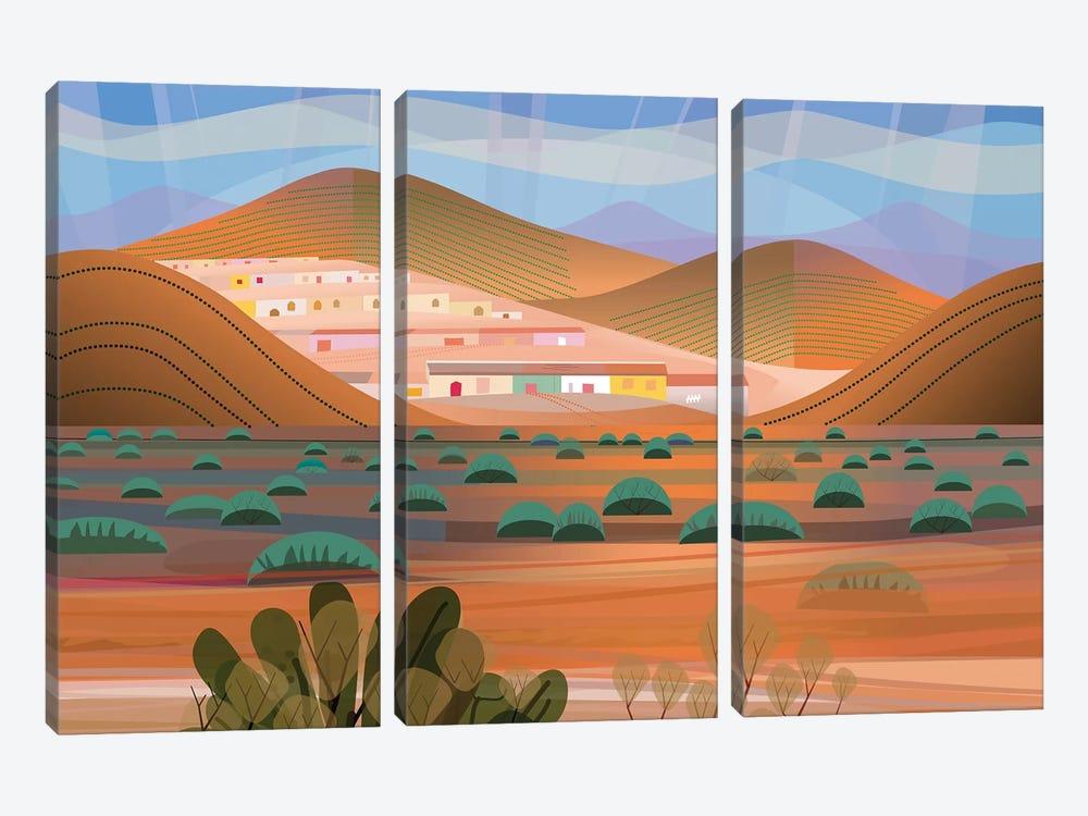 La Choya by Charles Harker 3-piece Canvas Wall Art