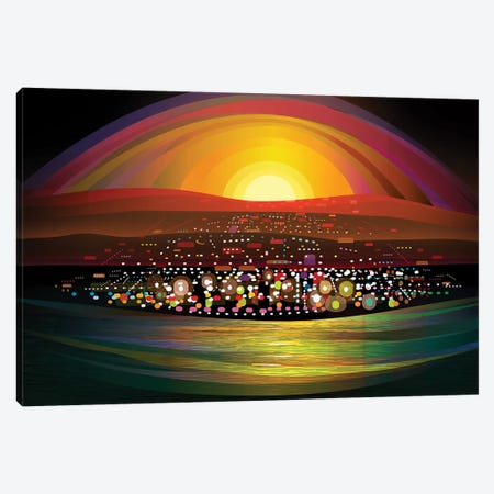 La Paz Canvas Print #HRK103} by Charles Harker Canvas Artwork