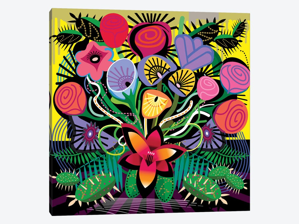 Jungle Bouquet by Charles Harker 1-piece Canvas Art
