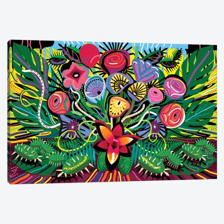 Jungle Foliage Canvas Print #HRK108} by Charles Harker Canvas Artwork