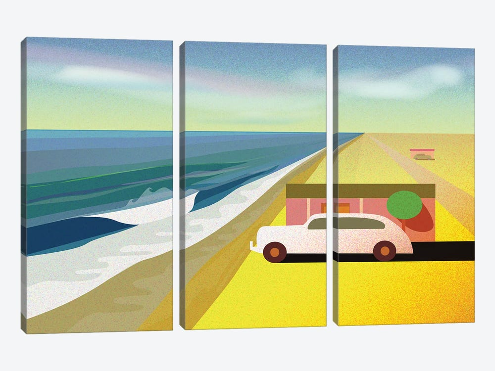 Mexican Honeymoon by Charles Harker 3-piece Canvas Print