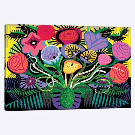Penacho Flowers Canvas Print #HRK110} by Charles Harker Canvas Print