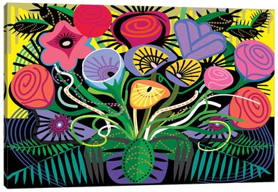 Penacho Flowers Canvas Art Print