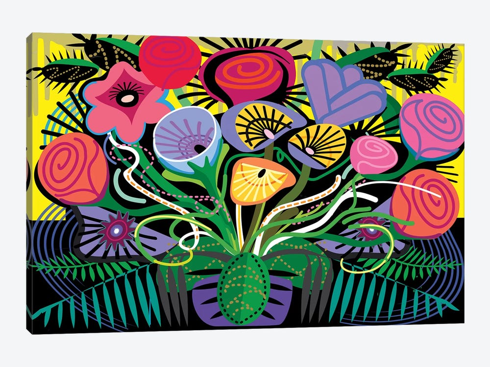 Penacho Flowers by Charles Harker 1-piece Canvas Art Print
